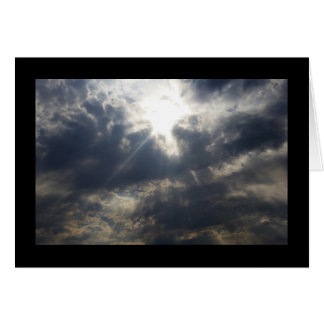 God's Light Through Clouds- Song of Sol. 2:3 Card