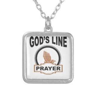 gods line prayer silver plated necklace