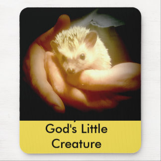 God's Little  Creature Hedgehog mouse pad