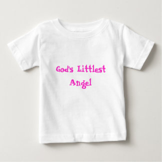 God's Littlest Angel Baby T-Shirt
