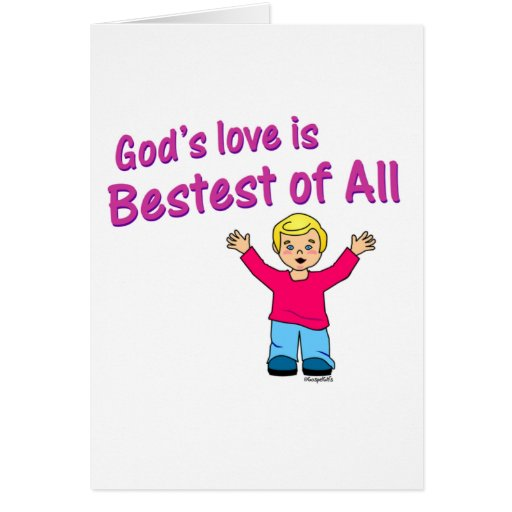 Gods love is best of all Christian design Card