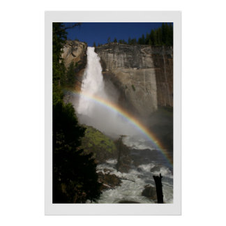 God's Masterpiece Vernal Falls Rainbow Poster