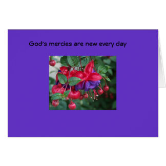 God's mercies are new... card