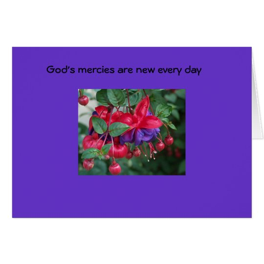 God's mercies are new... card