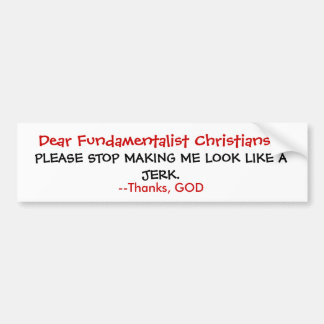 God's no Jerk Bumper Sticker