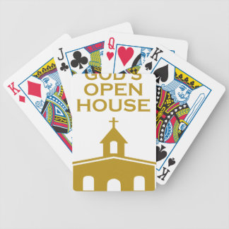 God's Open House Bicycle Playing Cards