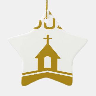 God's Open House Ceramic Star Ornament