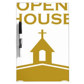 God's Open House Dry Erase White Board