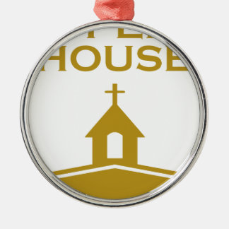 God's Open House Silver-Colored Round Ornament