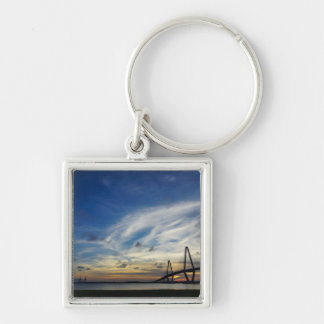 Gods Painting At Arthur Ravenel Silver-Colored Square Keychain