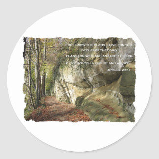 God's Plan To Prosper You Jeremiah 29:11 Classic Round Sticker