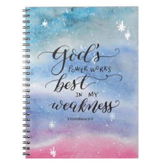 God's Power Spiral Notebook