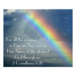 God's Promises bible verse poster