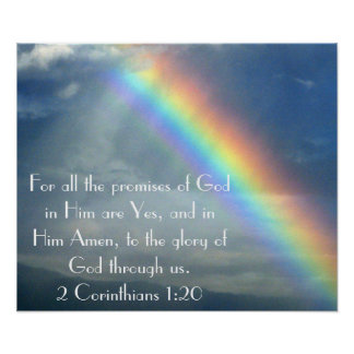 God's Promises bible verse poster