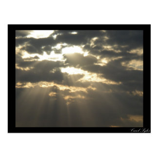 Gods Rays Shine Postcard