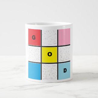God's- tic tack toe- white specialty jumbo mug