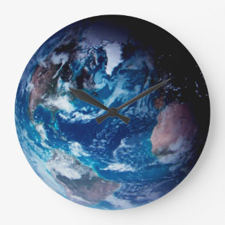 GOD'S VIEW OF EARTH #5 LARGE CLOCK