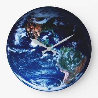 GOD'S VIEW OF EARTH LARGE CLOCK