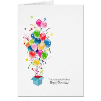Godson Birthday Cards, Colourful Balloons Card