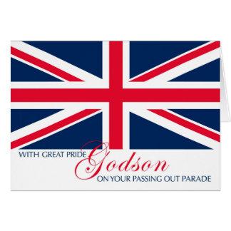 Godson Passing Out Congratulations Union Jack Card