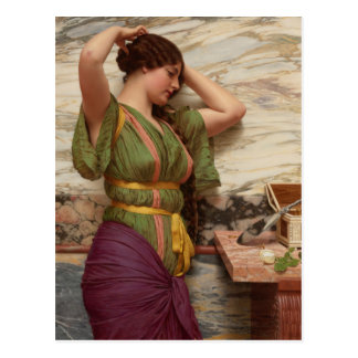 Godward A fair reflection CC0626 Postcard