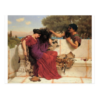 Godward - The Old, Old Story Postcard