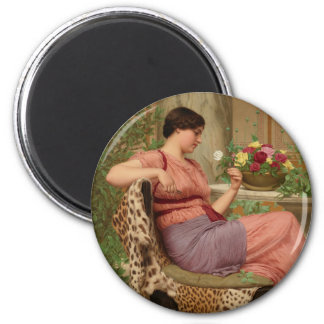 Godward The time of roses CC0628 Round Art Magnet