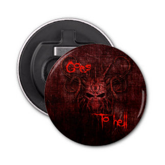 Goes to hell button bottle opener