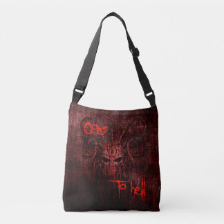 Goes to hell crossbody bag