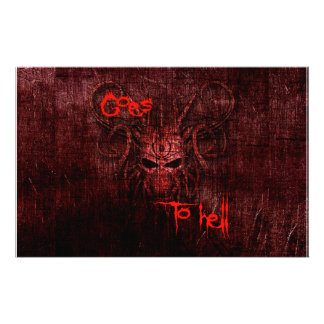 Goes to hell custom stationery