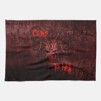 Goes to hell hand towels