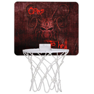 Goes to hell mini basketball hoop