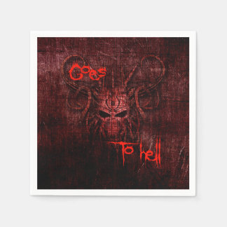 goes to hell paper napkin