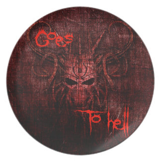 Goes to hell party plates