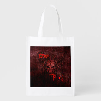Goes to hell reusable grocery bag