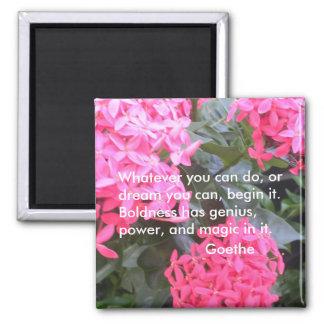 Goethe Motivational Quotation Magnet