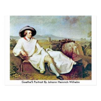 Goethe'S Portrait By Johann Heinrich Wilhelm Postcard