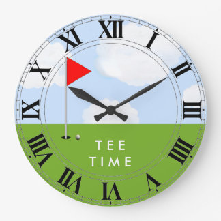 Goft Tee Time Large Clock