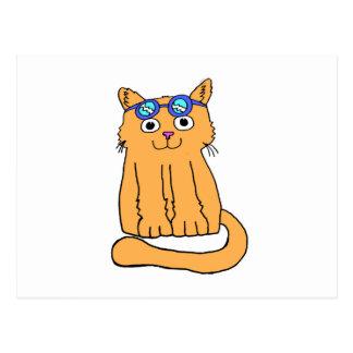 Goggles Cat Postcard