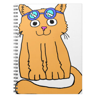 Goggles Cat Spiral Notebook