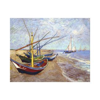 Gogh Fishing Boats on the Beach at Saintes-Maries Canvas Print