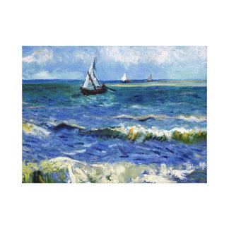 Gogh Seascape near Les Saintes-Maries-de-la-Mer Canvas Print
