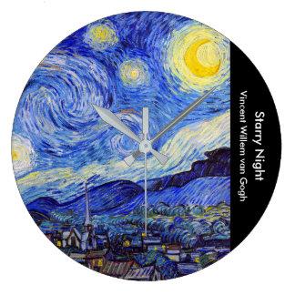"""Gogh, """"Starry Night"""" Large Clock"""