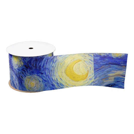 "Gogh, ""Starry Night"" Satin Ribbon"