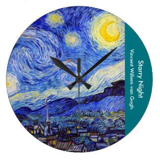 "Gogh, ""Starry Night"" Wallclock"