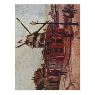 Gogh, Vincent van Le Moulin de La Galette 1886 Tec Postcard