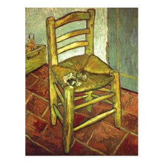 Gogh, Vincent Willem van Vincents Stuhl mit Pfeife Postcard