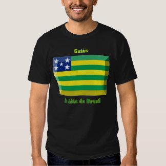 Goiás Flag Gem T Shirts