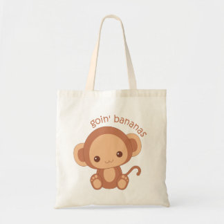 Goin' Bananas Baby Monkey Budget Tote Bag
