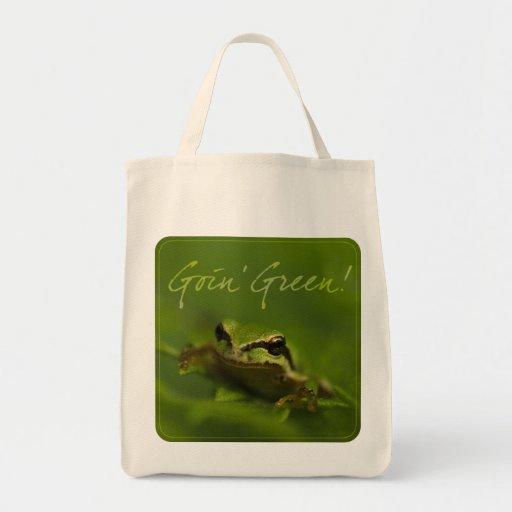 Goin' Green! Tree Frog Shopping Bag